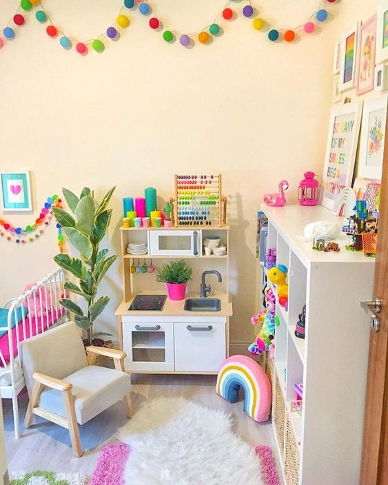Habitaciones infantiles alegres