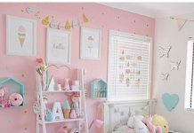 Habitación infantil tonos pastel