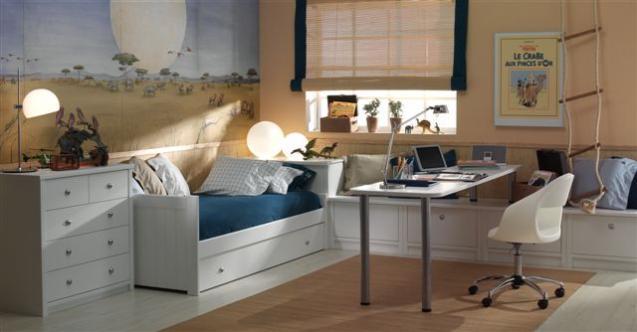 Dormitorios infantiles compartidos web de la casa - Habitaciones infantiles cama nido ...