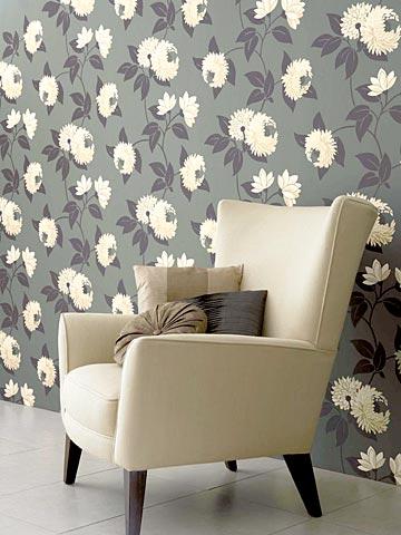 Motivos florales en papeles pintados web de la casa - Papel pintado lavable pared ...