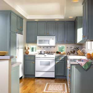light blue kitchen white cabinets pintura web de la casa 22640