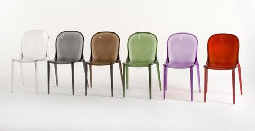 silla thalya por patrick jouin para kartell web de la casa. Black Bedroom Furniture Sets. Home Design Ideas