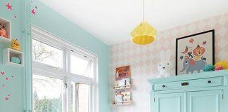 Habitación bebé tonos pastel