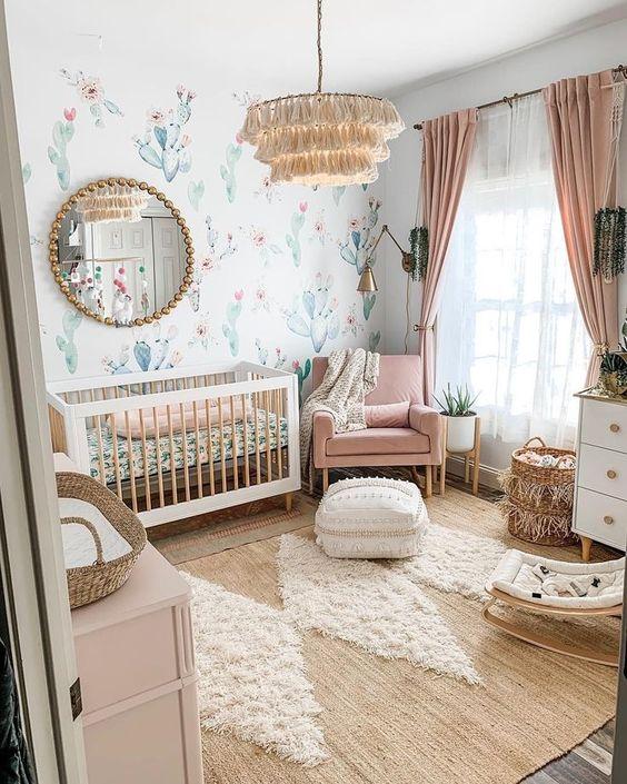 Habitación bebé color natural