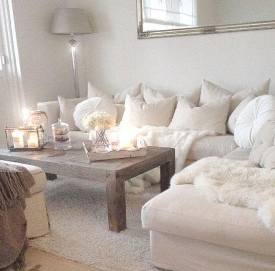 Awesome Salon Blanc Cosy Images - Amazing House Design ...