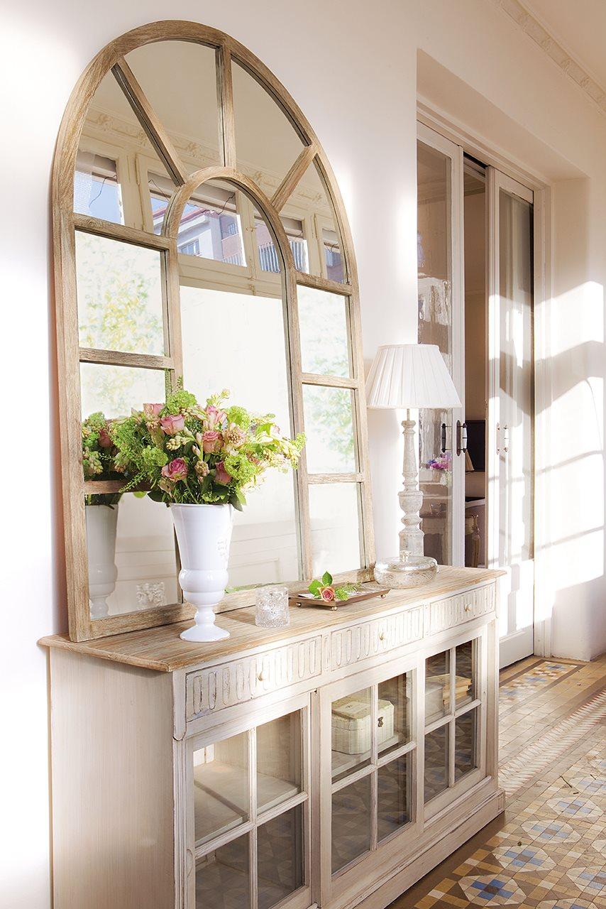 M s de 30 recibidores para embellecer la entrada de tu casa web de la casa - Recibidores con encanto ...