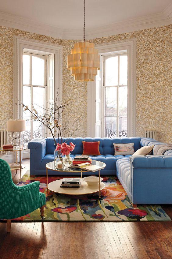 Los m s bonitos sof s para realzar el sal n web de la casa - Sofas comodos y bonitos ...