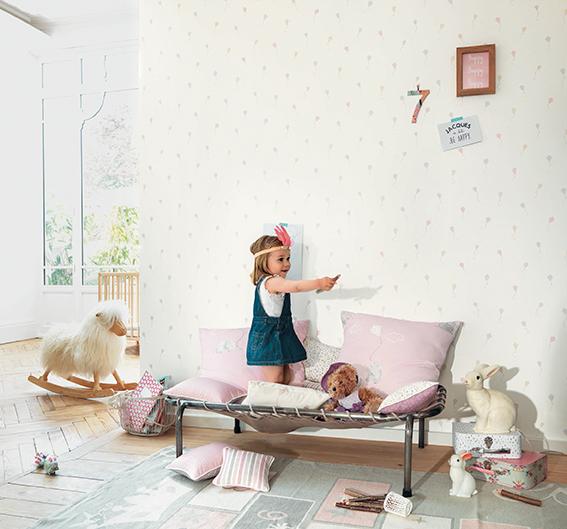 Papel pintado infantil para crear una habitaci n de ensue o - Papel pintado habitacion infantil nina ...