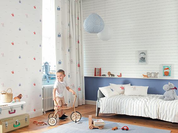 Papel pintado infantil para crear una habitaci n de - Papel pintado para habitacion nina ...