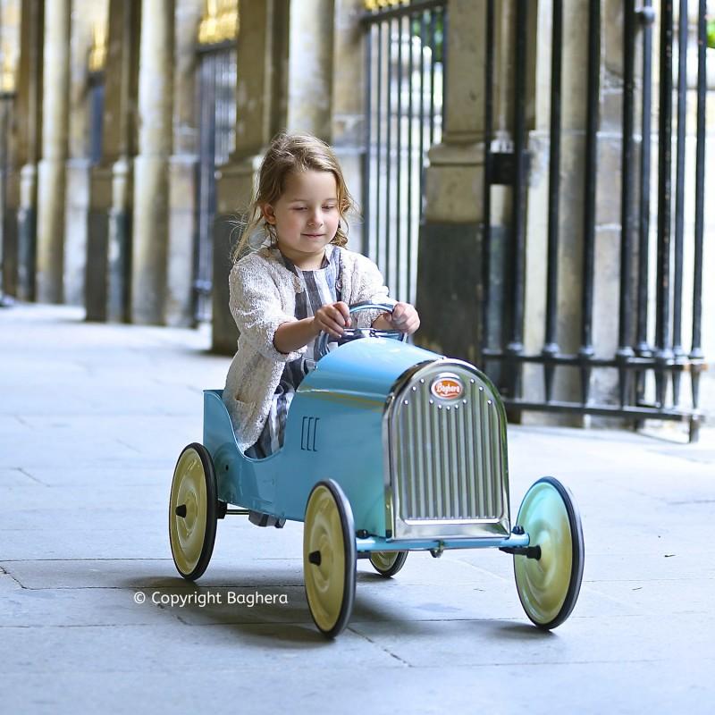 Cochecito a pedales Baghera Legend Old Blue