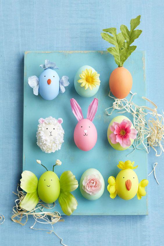 Decorar con huevos de pascua
