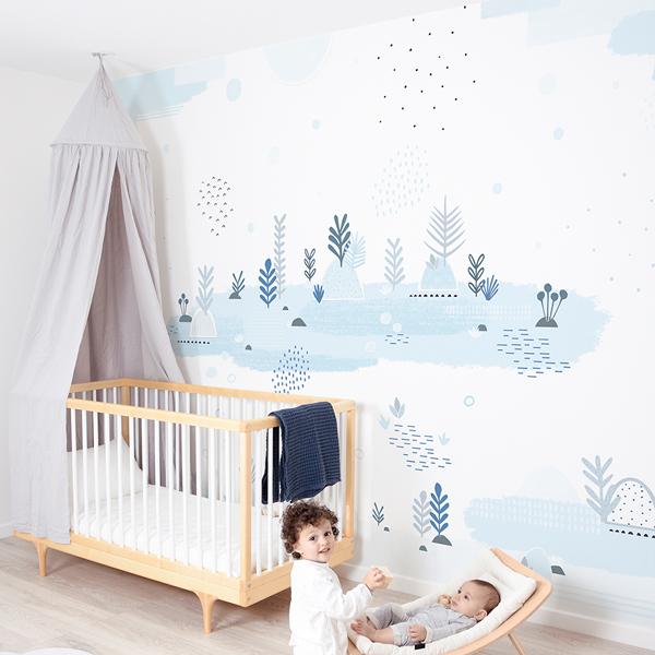 Mural papel pintado infantil Lunar Water Garden
