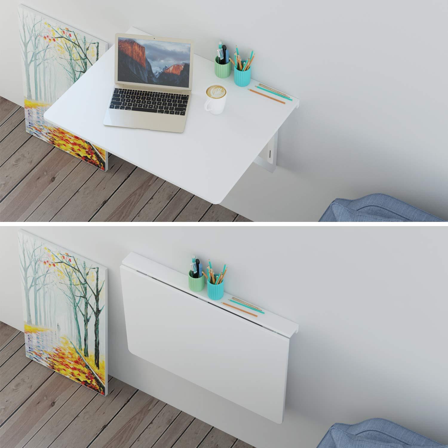 Escritorio plegable de pared Homfa
