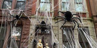 Decoración con esqueletos Halloween