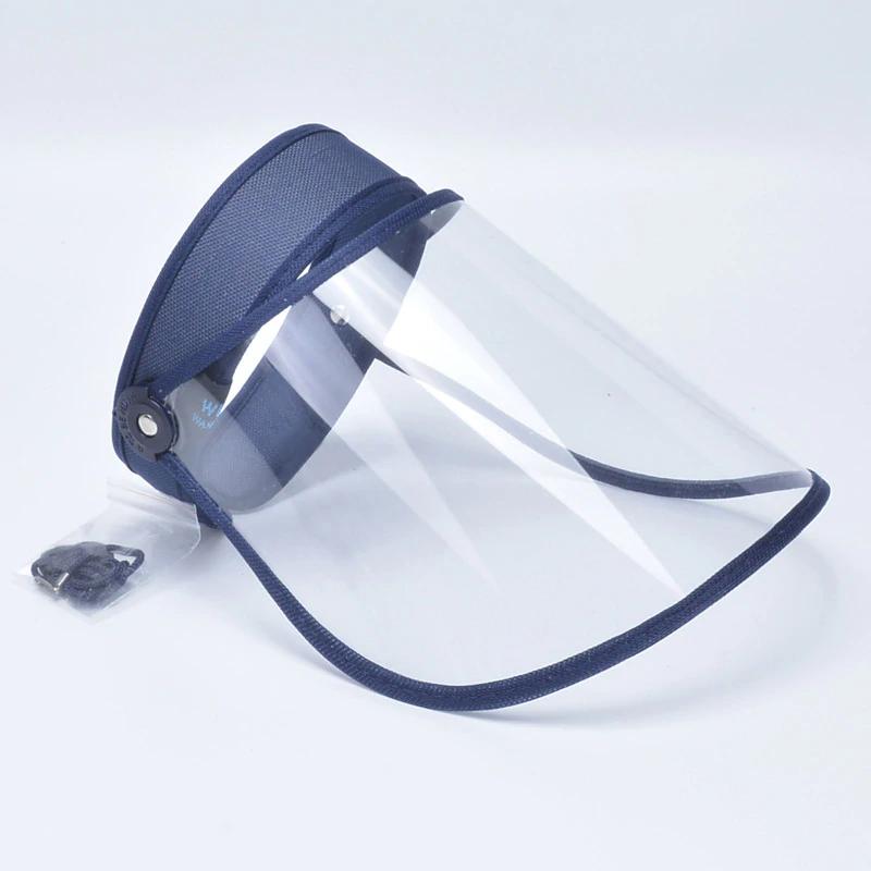 Gorra protectora transparente