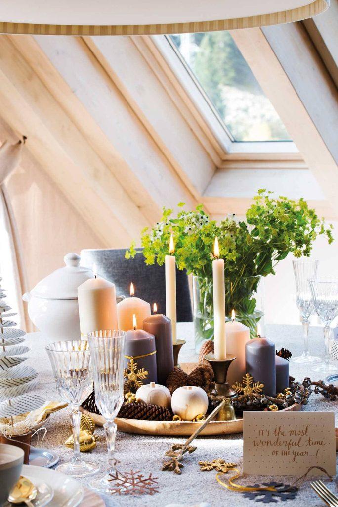 Centro de mesa Navidad elegante