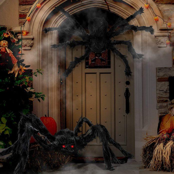 Decoración Halloween con arañas