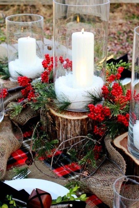 Decoración Navidad con velas exterior