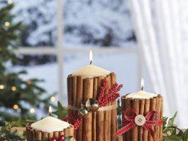 Manualidades con velas navideñas