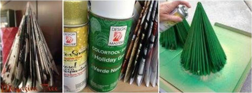 Cómo hacer un árbol de Navidad con papel y revistas