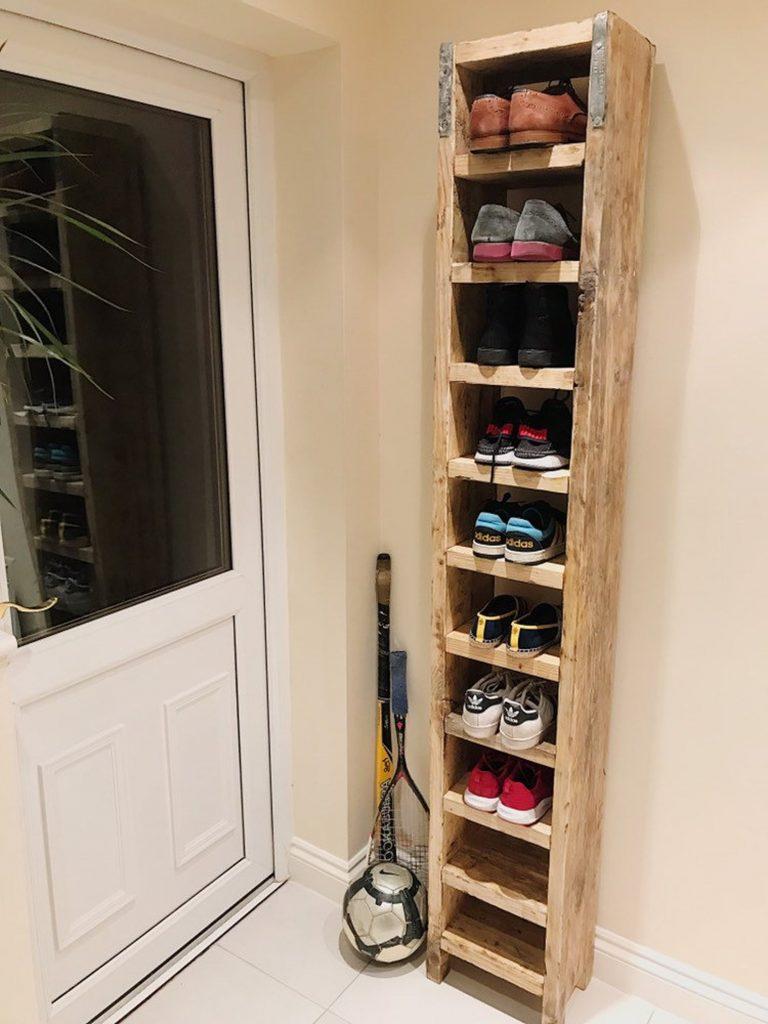 Estantería alta para zapatos
