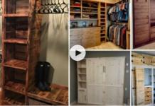 Armarios hechos con madera reciclada