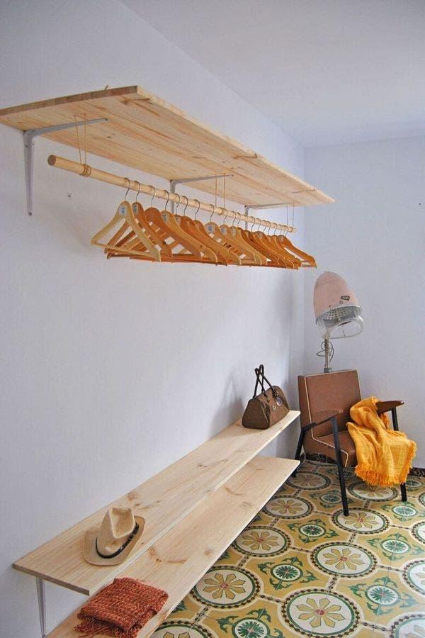 Repisa de madera reciclada
