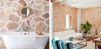 Revestimiento de paredes con piedra